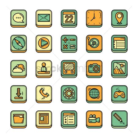 User interface : Mobile icon set