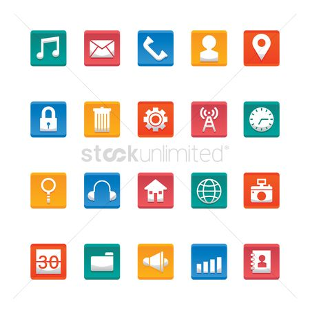 Address : Mobile icon set