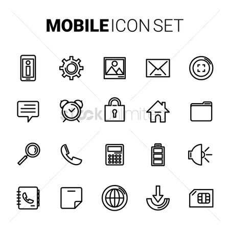 Call : Mobile icon set