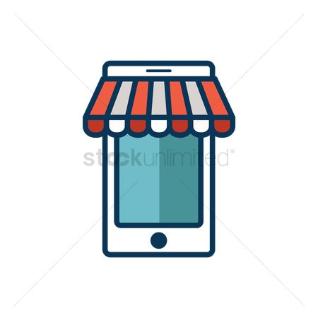 Awning : Mobile online shop