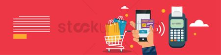 Shopping cart : Mobile shopping banner