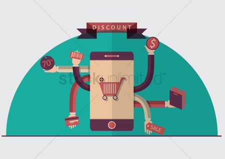 Discounts : Mobile shopping