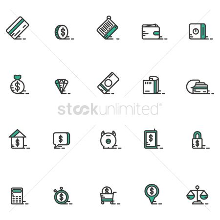 Currencies : Money icons