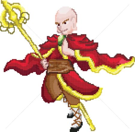 Staffs : Monk game character