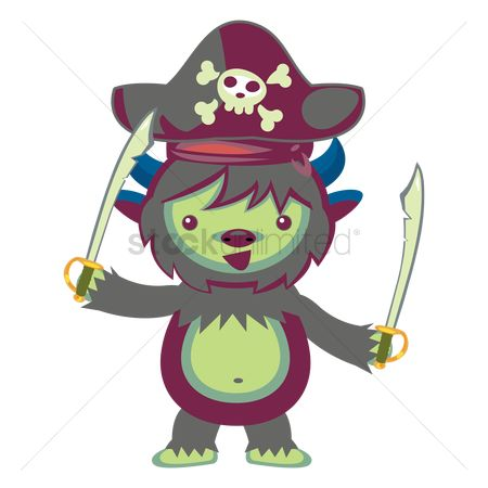 Horned : Monster in pirate costume
