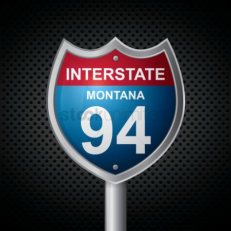 Interstates : Montana 94 route sign
