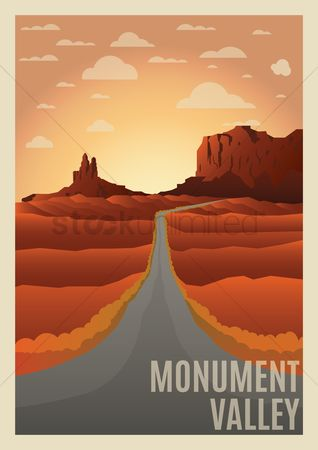 Tourist attraction : Monument valley