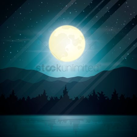 Moon : Moonlight background