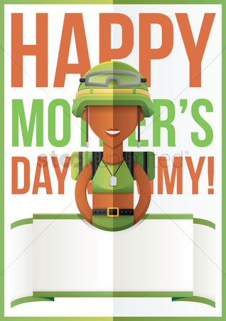 Soldier : Mothers day design with soldier