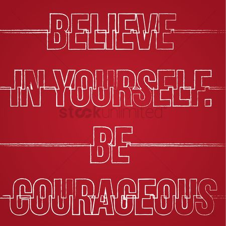 Brave : Motivational quote typography design