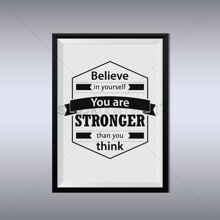 Free You Are Stronger Than You Think Stock Vectors Stockunlimited