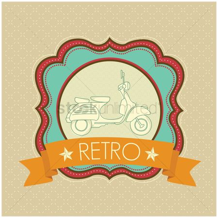 Motorcycles : Motorcycle retro banner