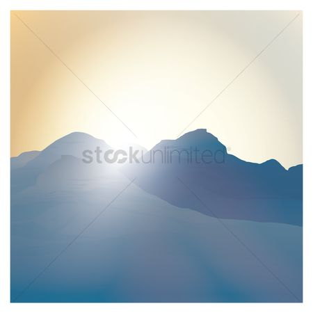 Sunray : Mountain background