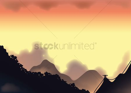 Hills : Mountain landscape