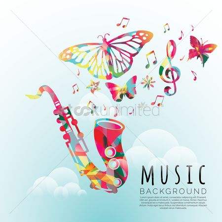 Double exposure : Music background design