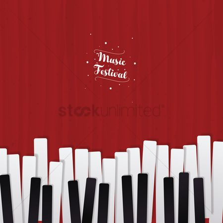 Melody : Music festival with piano keys concept