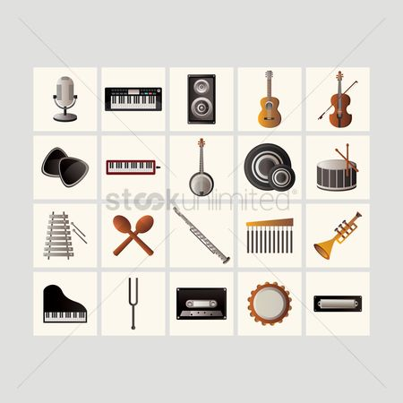 Microphone : Music icons