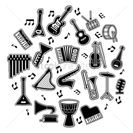 Drums : Musical instruments set