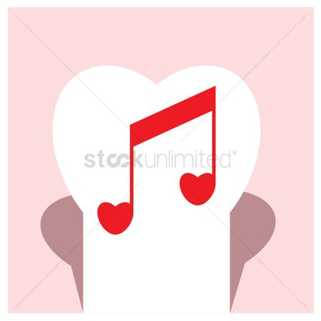 Heart : Musical note in heart