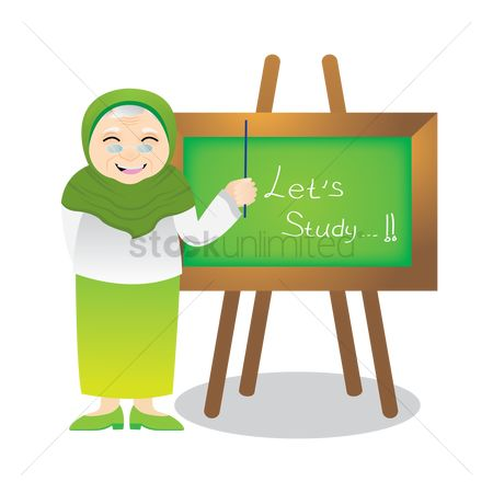 Teaching : Muslim woman teaching