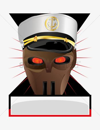 Sailors : Navy hat and face mask emblem