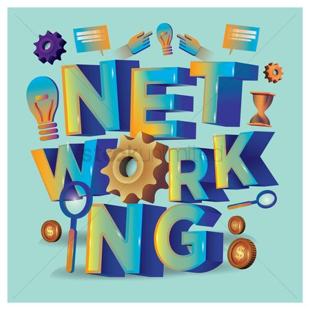 Typographics : Networking lettering design