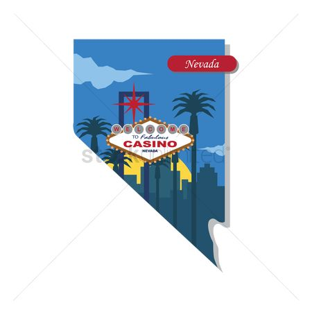 Casinos : Nevada state map