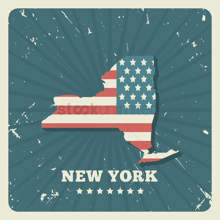 Oldfashioned : New york map
