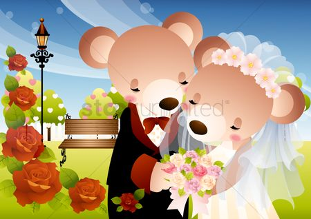 Teddy bear : Newlyweds teddy