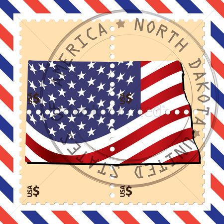 Dakota : North dakota stamp