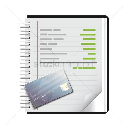 Dairy : Note pad with cash card
