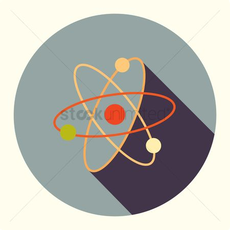 Particles : Nuclear and atomic power symbol