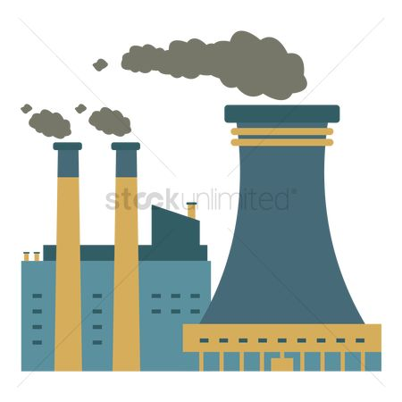 Chimneys : Nuclear plant factory
