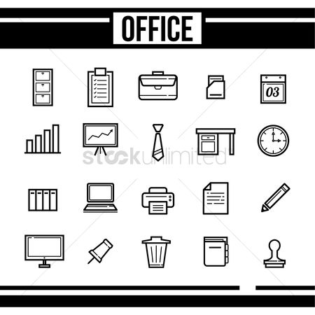Wall : Office icon set