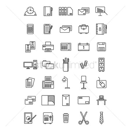 Address : Office icon set