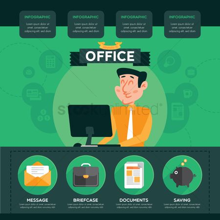 Briefcases : Office infographic