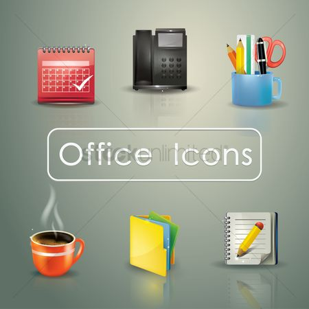 Coffee cups : Office themed icons