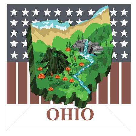 Usa map : Ohio state map