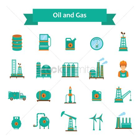 Petroleum : Oil and gas icons