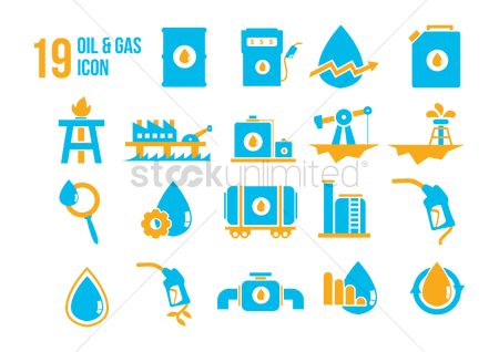 Petroleum : Oil and gas industry icons