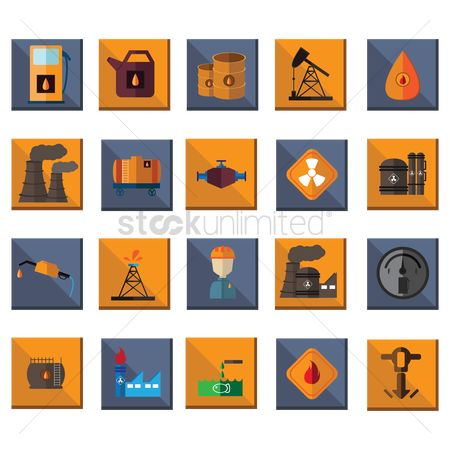 Drips : Oil and gas industry icons
