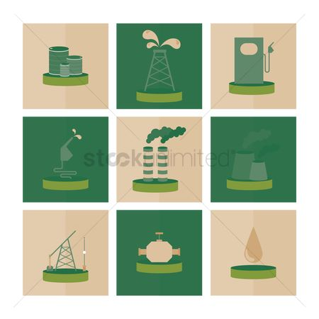 Oil drum : Oil and gas industry icons