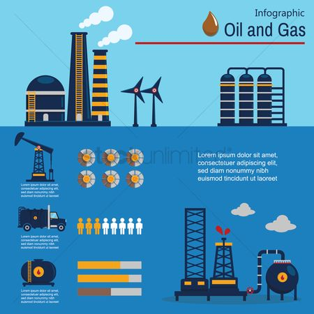 Lorries : Oil and gas infographic