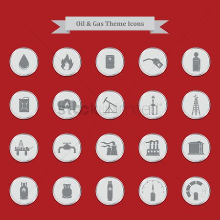 Nuclear : Oil and gas theme icons