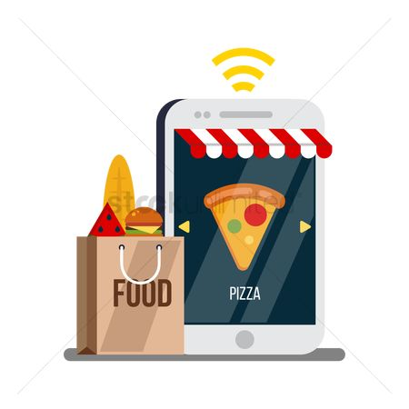 Pizza delivery : Online ordering concept