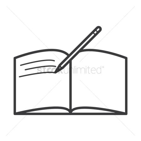 Planner : Open book with pen icon