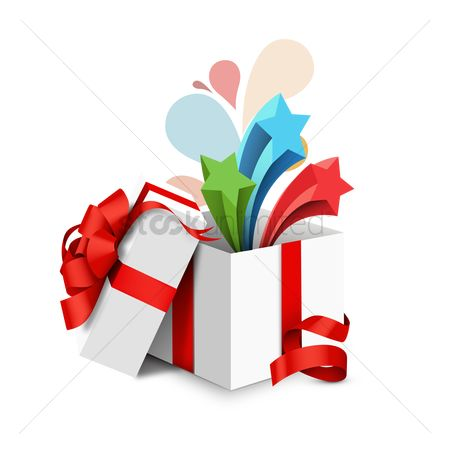 Open : Opened gift box