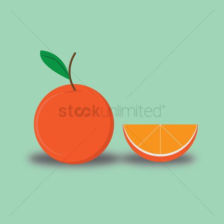 Healthy eating : Orange and its slice