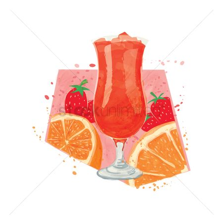 Nutritions : Orange and strawberry juice