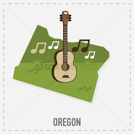 Oregon : Oregon map sticker